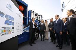 .文在寅出席未来汽车产业国家蓝图启动仪式.
