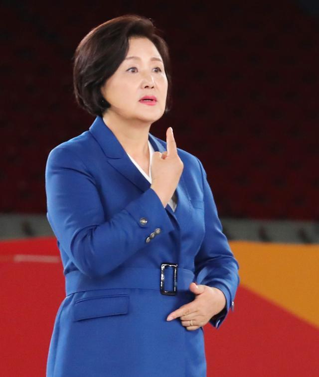 """김정숙 여사, 전국장애인체전서 수어 인사…""""틀린게 아니라 다를 뿐"""""""