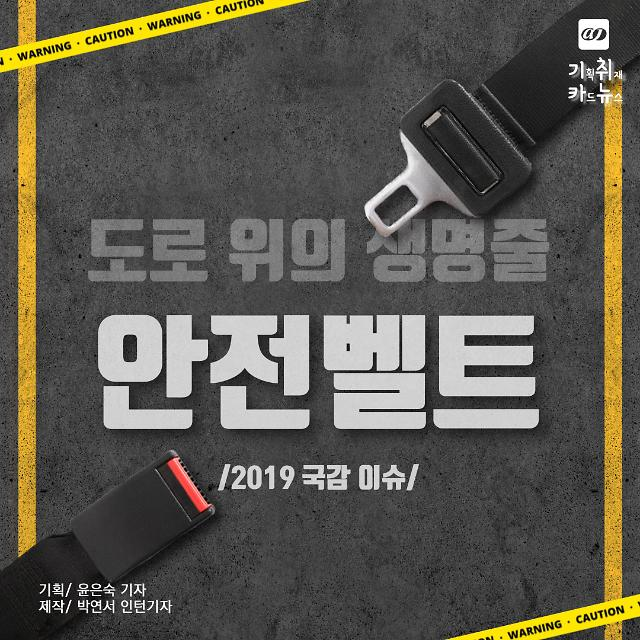 [카드뉴스] 2019 국감 이슈, 도로 위의 생명줄 안전벨트 착용에 홍보와 단속 필요