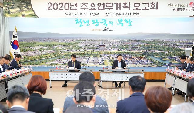 경주시, 2020년도 주요업무계획 보고회 개최