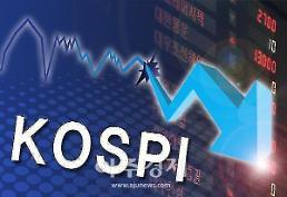 .kospi, 外国投资者和机构投资者同时抛售下跌收盘.