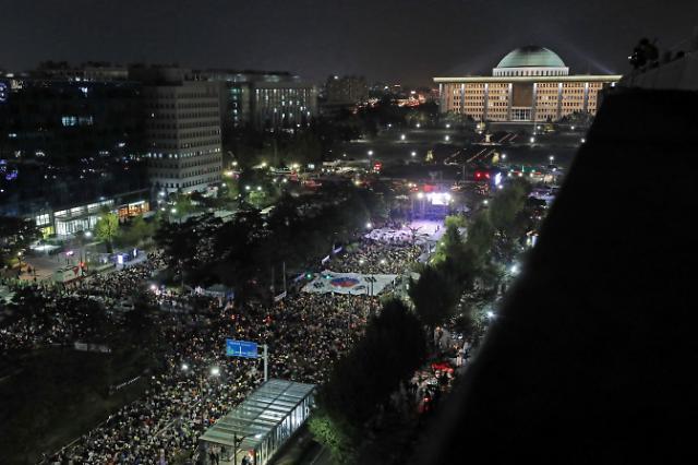 [슬라이드 화보] 공수처를 설치하라 검찰개혁 촉구 여의도 촛불집회
