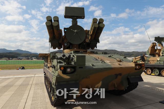 [포토] 단거리 지대공 유도무기 천마 (서울 ADEX 2019)