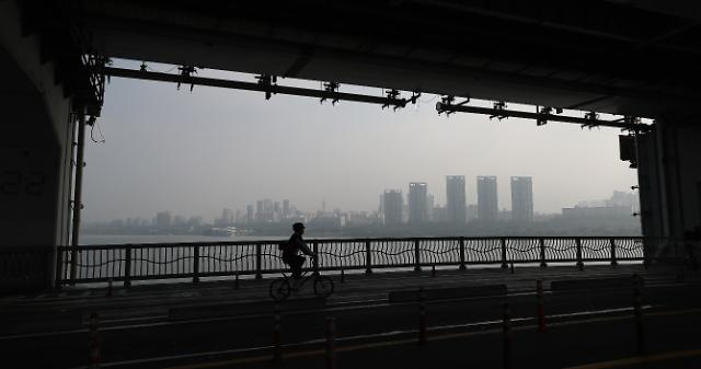 [포토] 미세먼지 가득 찬 서울하늘