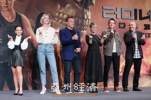 《终结者:黑暗命运》主创访韩 首尔举行发布会