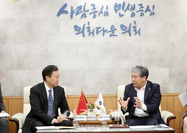 송한준 경기도의회 의장, 중국 랴오닝성 정협 주석과 협력방안 논의