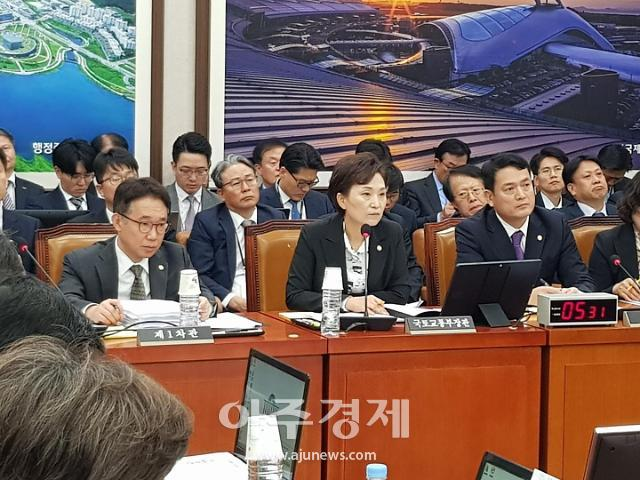 """[2019 국감] 김현미 장관 """"1·2기 신도시 교통대책 이달 말 발표"""""""