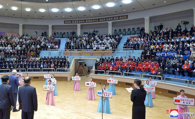 북한 월드컵 축구는 푸대접하더니…평양 역도대회는 대대적 홍보