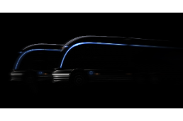.Hyundai releases teaser image of hydrogen electric truck concept ahead of vehicle show.