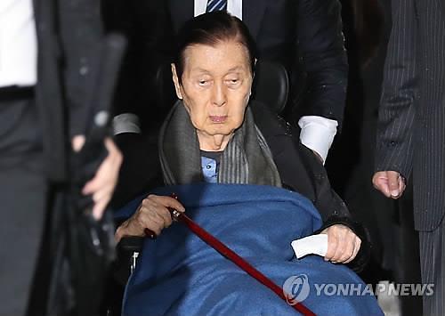"""檢, 신격호 롯데 명예회장 형 집행정지... """"사망위험 있다 판단"""""""