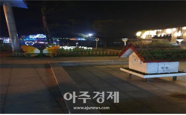 도로공사 화서휴게소(상주방향) 공원에 LED조명…졸음운전 싹~