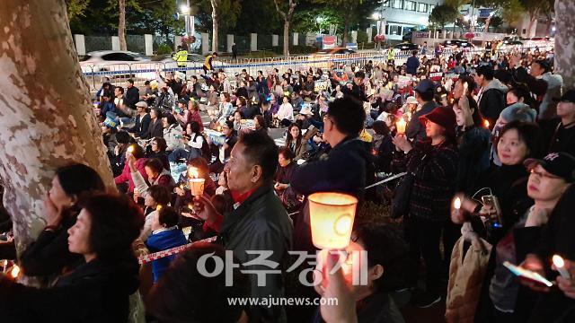 법원, 정경심 구속영장 발부... 집회 반응은 극과 극