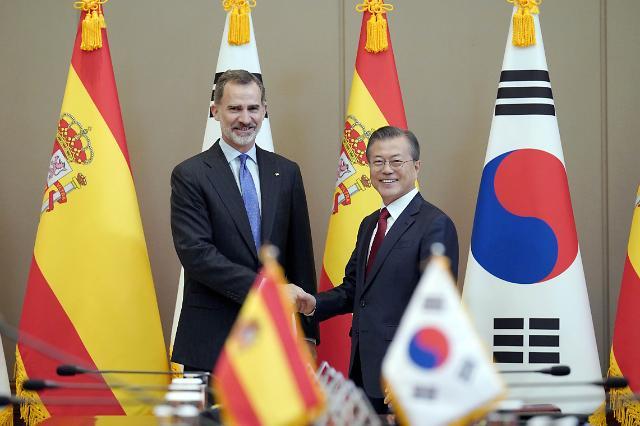 文在寅会见西班牙国王费利佩六世