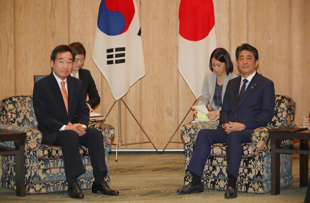 韩总理日本首相会晤开始