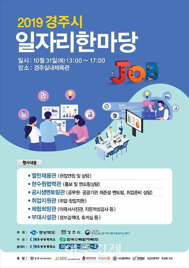 2019 경주시 일자리한마당 행사 개최