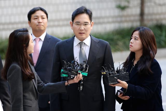 [포토] 파기환송심 첫 재판 출석하는 이재용 삼성전자 부회장