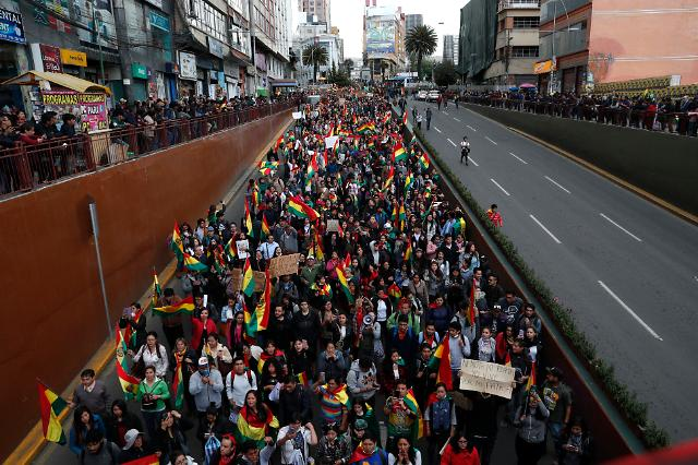 볼리비아 시위 격화…대선 개표 조작 의혹 후폭풍