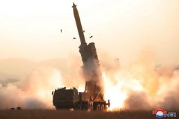 ".N. Korea tested continuous fire system of ""super-large"" multiple rocket launchers: KCNA ."