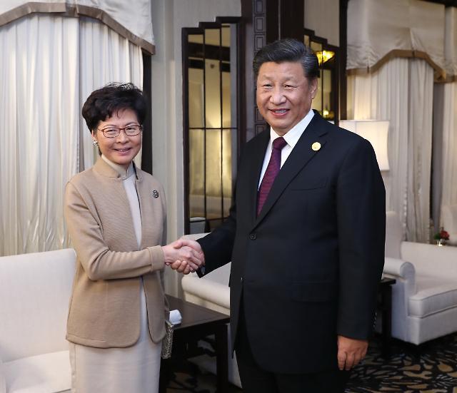 시진핑 지지 얻은 캐리람…홍콩 시위 더 강경대응할까