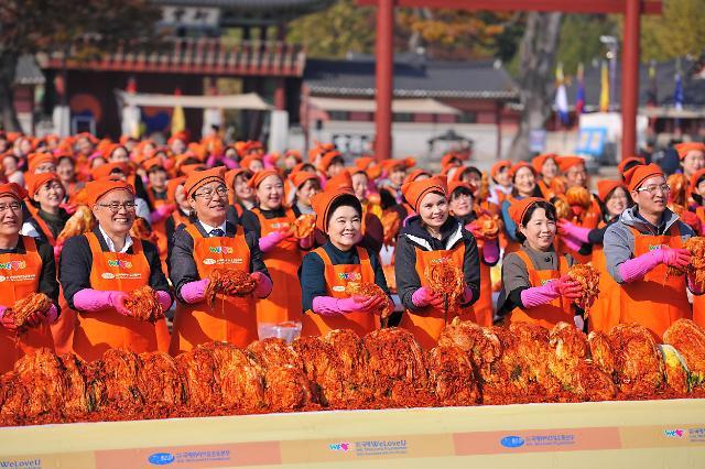 국제위러브유운동본부, 김장김치 8000kg 손수 담가