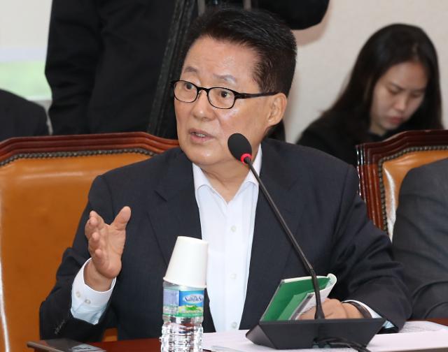 """박지원 """"보수대통합, 황교안 위기 탈출 '국면 전환용'"""""""