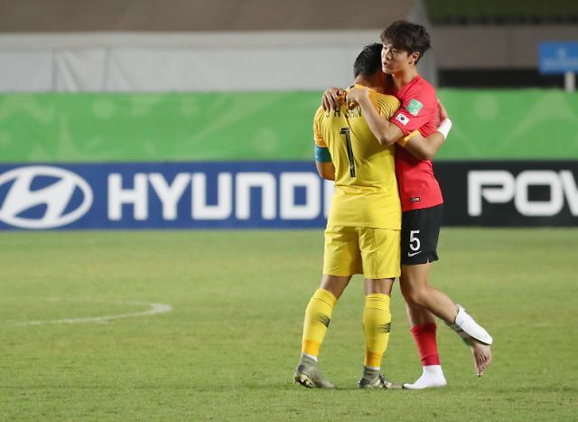 [포토] 한국축구 U-17 4강 좌절 , 멕시코에 0-1 패배