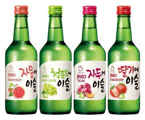 韩国真露果味烧酒畅销海外 消费者最爱青葡萄味
