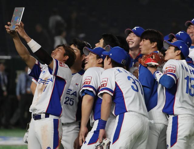 [포토] 미국 완파한 한국, 셀카 세리머니