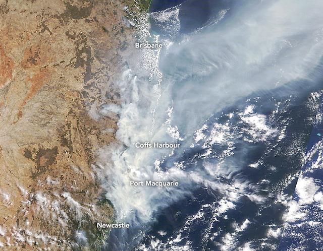 [포토] 우주에서도 보이는 호주 산불