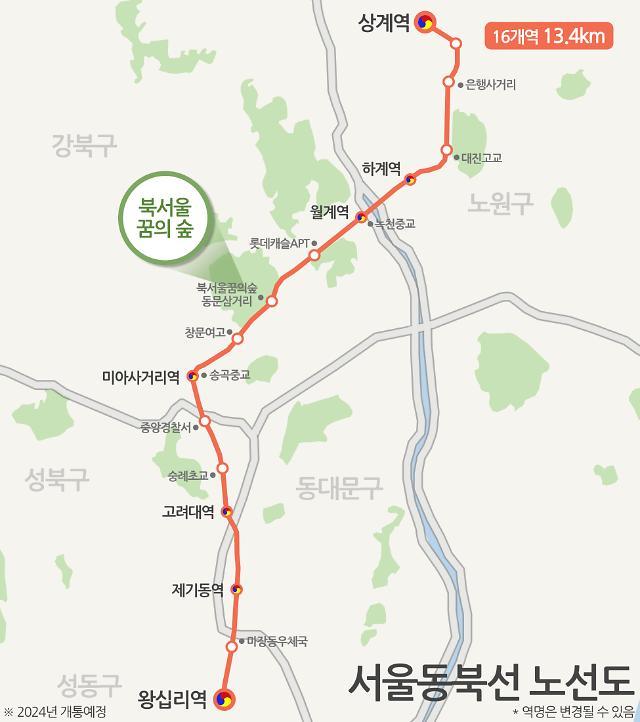 서울 동북선 경전철 착공에 강북·노원 일대 부동산 들썩