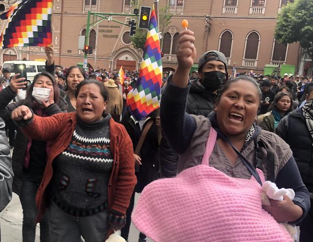 혼돈의 볼리비아…경찰 총격 모랄레스 지지자 사망자 5명→8명