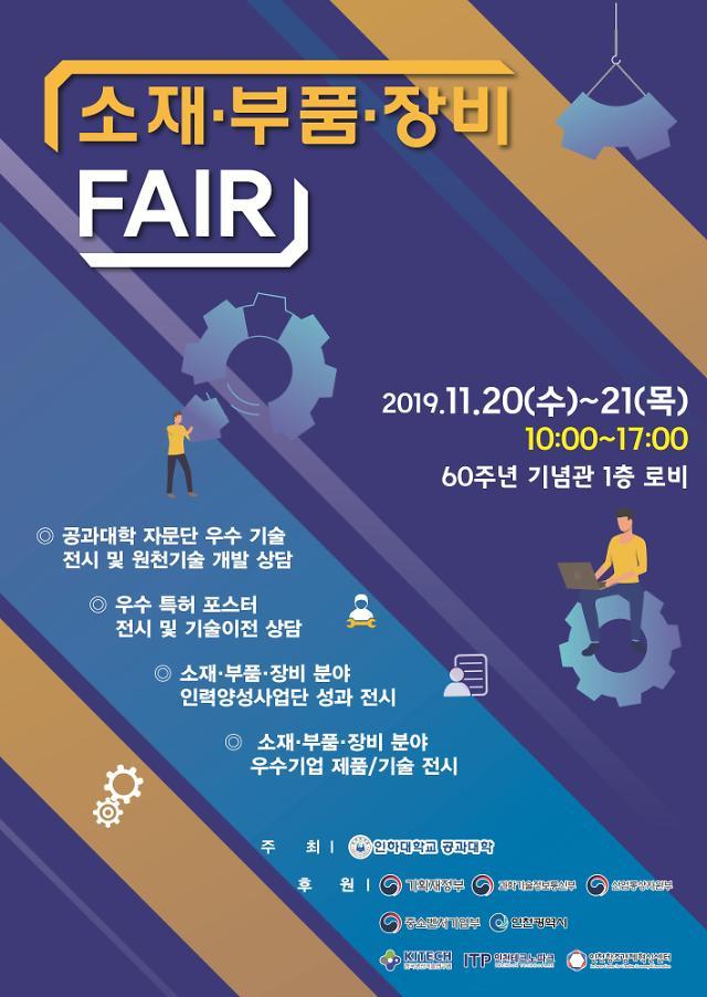 인하대, 국내 대학 최초 소재‧부품‧장비 Fair 개최
