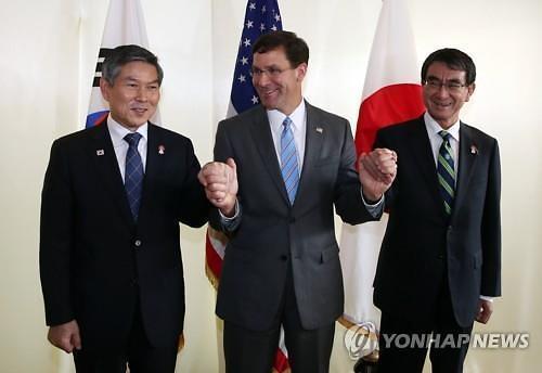 """정경두 국방 """"미국, 일본 향한 지소미아 압박 거세"""""""
