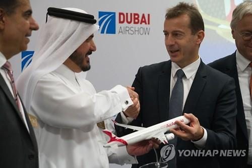 보잉 보란듯...에어버스, 두바이에어쇼서 300억 달러어치 수주
