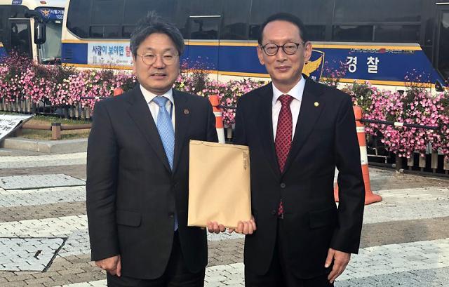 """김도읍 """"청와대 물리적으로 시간없다…한국당의 영수회담 제안 거절"""""""