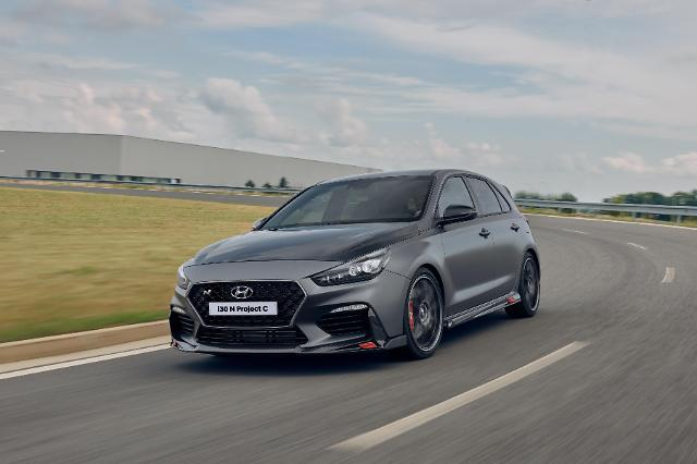 SK Chemicals carbon composite material used as engine hood of Hyundai Motors i30N Project C
