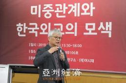 """.""""中美关系与韩国外交的摸索""""研讨会19日在成均馆大学举办."""