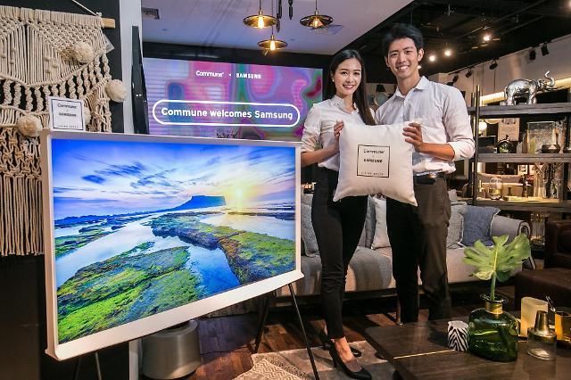 삼성전자, 싱가포르에 '세리프 TV' 체험공간 마련