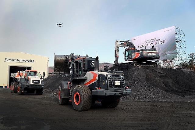 Doosan Infracore demonstrates automated construction system