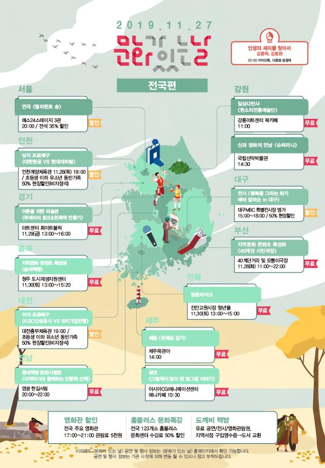 11월 문화가 있는 날 전국서 2506개 문화행사