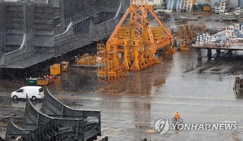 """중형조선사, 세계 중형선박 시장 수주 점유율 뚝...""""수주 부진 지속"""""""