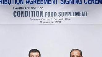 CJHealthcare ký kết hợp tác với doanh nghiệp Việt Hà nhằm tiến vào thị trường thực phẩm chức năng Việt Nam