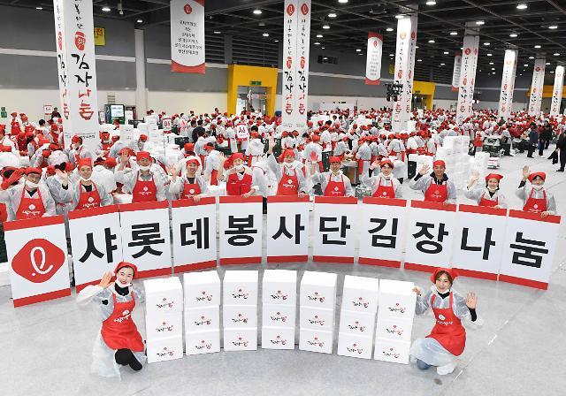 사랑의 김장 나눔 행사, 유통업계 최다 기업은?