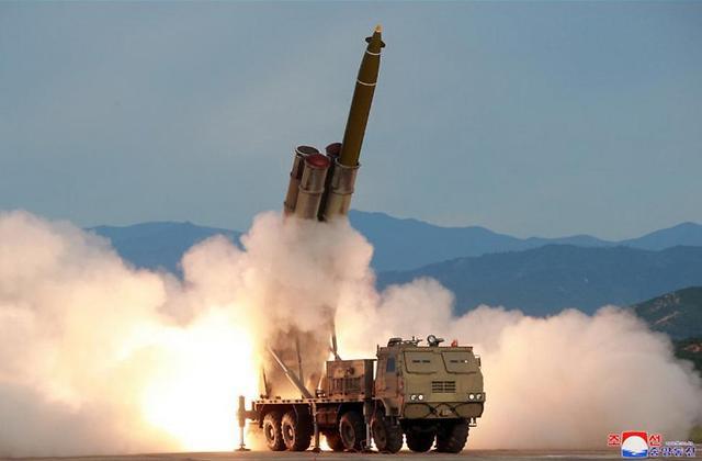 北초대형 방사포 발사에 軍, 올해 첫 강한 유감 표명(종합)