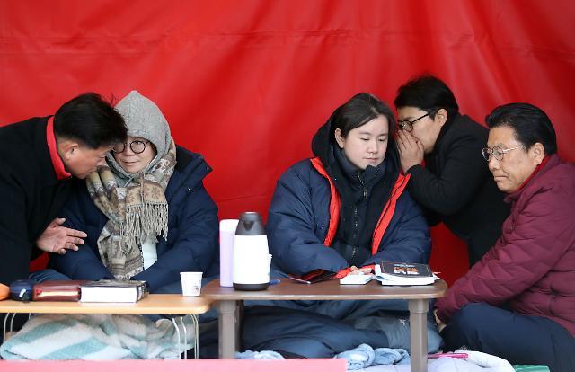 정미경·신보라 최고위원 단식 4일차…황교안 만류에도 지속
