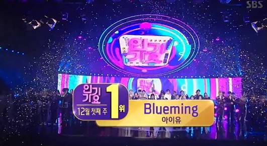IU凭借《Blueming》夺《人气歌谣》冠军