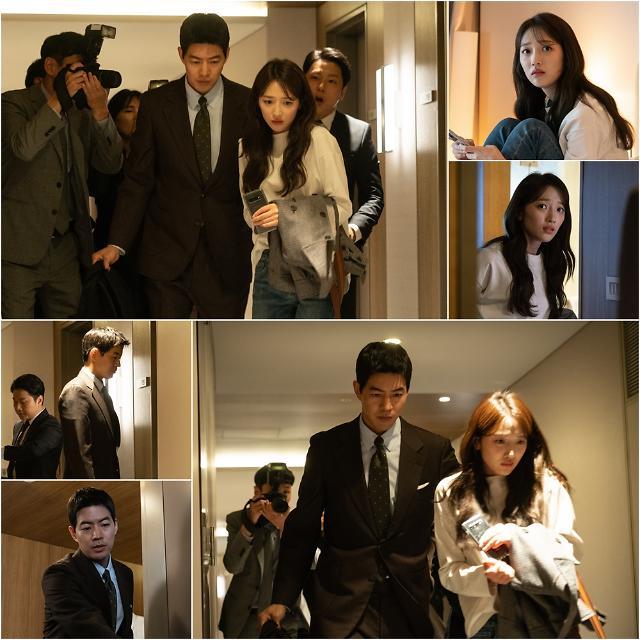 SBS 'VIP' 이상윤-표예진, 들이닥친 기자들 속 '호텔 방 탈출' 포착