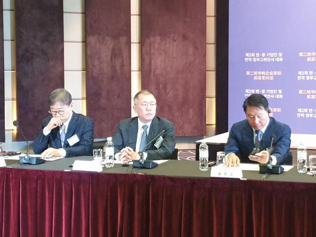 정의선·최태원 등 한·중기업인 한자리에···양국 경제 협력 강화
