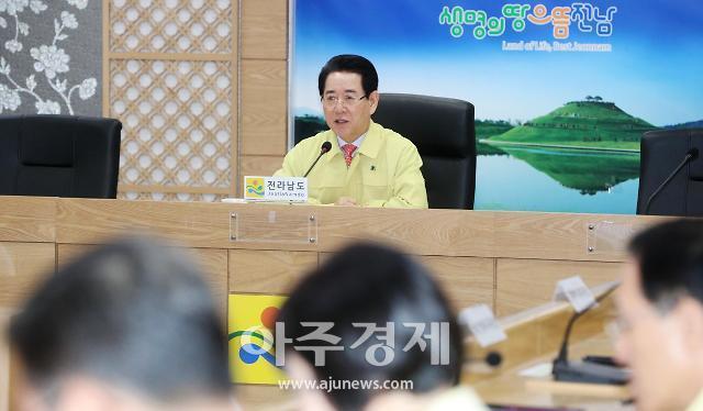 김영록 전남지사 AI 중점방역 점검