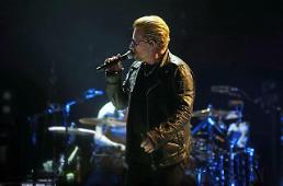 .文总统9日与摇滚乐队U2 主唱会面 关注韩半岛和平问题.